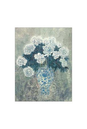 White Peonies-Cai Xiaoli-Framed Art Print