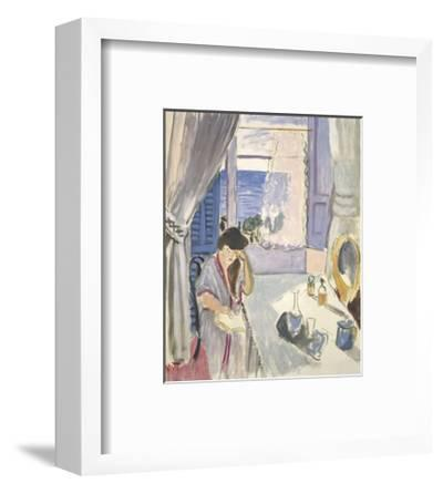Woman Reading at a Dressing Table, Late 1919-Henri Matisse-Framed Art Print