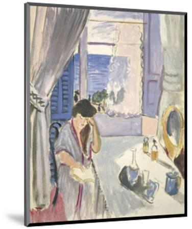 Woman Reading at a Dressing Table, Late 1919-Henri Matisse-Mounted Art Print