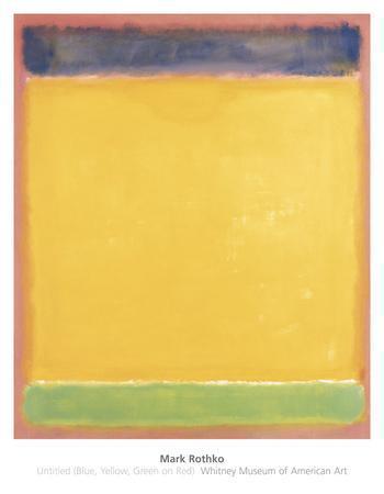 Untitled (Blue, Yellow, Green on Red), 1954-Mark Rothko-Art Print