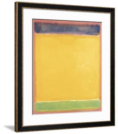 Untitled (Blue, Yellow, Green on Red), 1954-Mark Rothko-Framed Art Print
