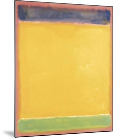 Untitled (Blue, Yellow, Green on Red), 1954-Mark Rothko-Mounted Art Print