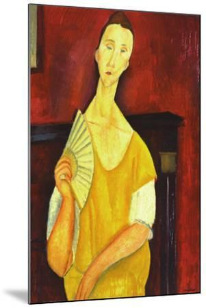 Woman with a Fan-Amedeo Modigliani-Mounted Art Print