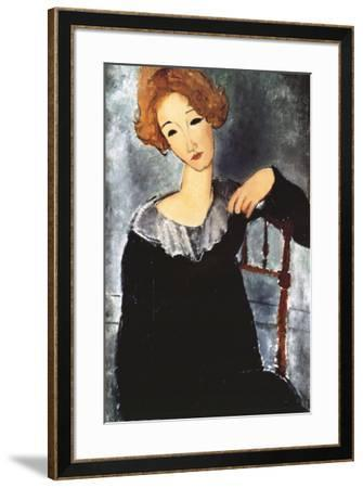 Woman with Red Hair-Amedeo Modigliani-Framed Art Print