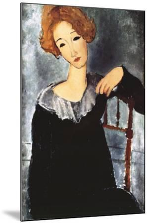 Woman with Red Hair-Amedeo Modigliani-Mounted Art Print