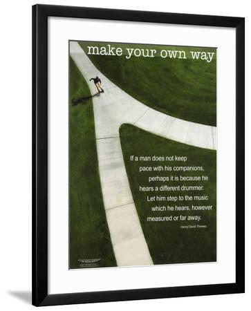 Make Your Own Way--Framed Art Print