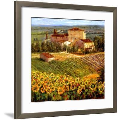 Provencal Village III-Michael Longo-Framed Art Print