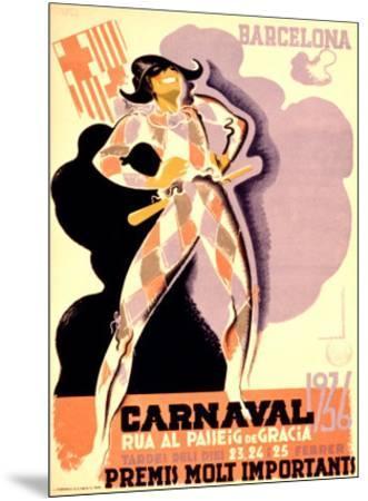 Carnival, 1936-Tubau-Mounted Giclee Print