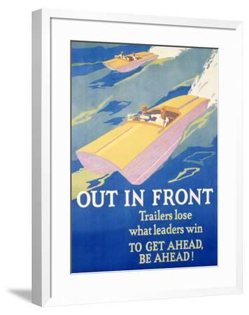 Out in Front-Frank Mather Beatty-Framed Giclee Print