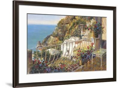 Blue Water Terrace-Michael Longo-Framed Art Print