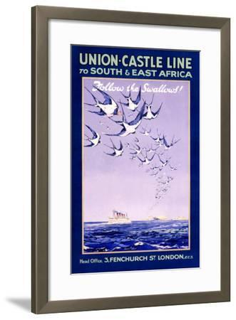 Union Castle Line to South Africa--Framed Giclee Print