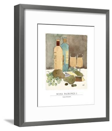 Wine Pairings I-Sam Dixon-Framed Art Print