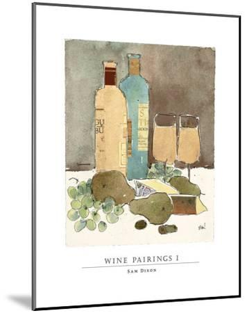 Wine Pairings I-Sam Dixon-Mounted Art Print
