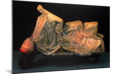 Wrapped Vespa-Christo-Mounted Art Print