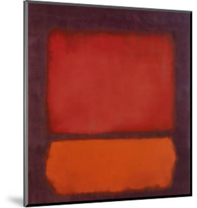 Untitled-Mark Rothko-Mounted Art Print
