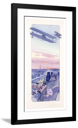 Wright Brothers Aviation Biplane--Framed Giclee Print