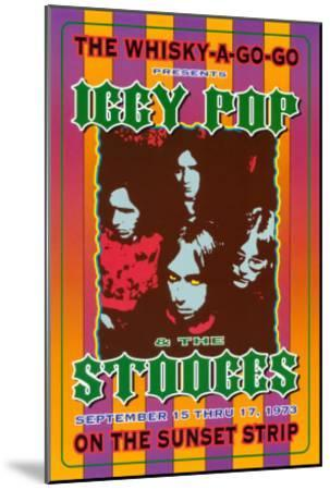 Iggy Pop and the Stooges at the Whiskey A-Go-Go-Dennis Loren-Mounted Art Print