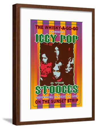 Iggy Pop and the Stooges at the Whiskey A-Go-Go-Dennis Loren-Framed Art Print