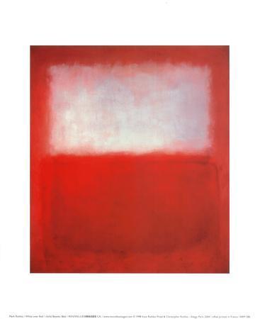 White over Red-Mark Rothko-Art Print