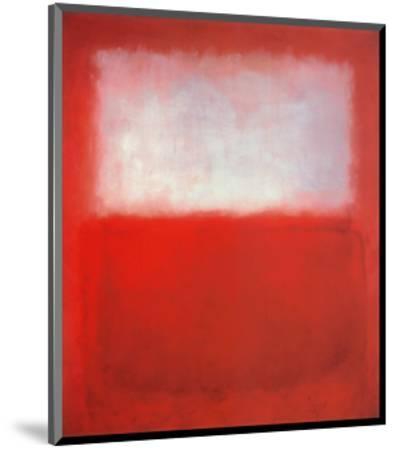 White over Red-Mark Rothko-Mounted Art Print