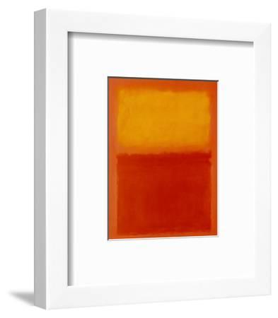 Orange and Yellow-Mark Rothko-Framed Art Print
