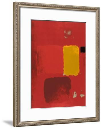 Cadmium Painting-Patrick Heron-Framed Serigraph