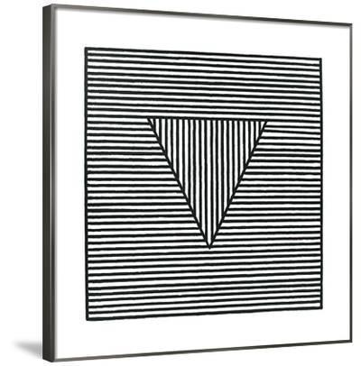 Triangle, c.1980-Sol Lewitt-Framed Serigraph