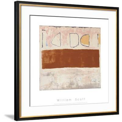 White and Ochre, c.1960-William Scott-Framed Serigraph