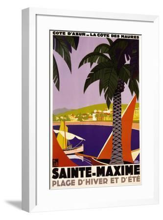 Sainte-Maxime-Roger Broders-Framed Poster