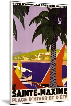 Sainte-Maxime-Roger Broders-Mounted Poster
