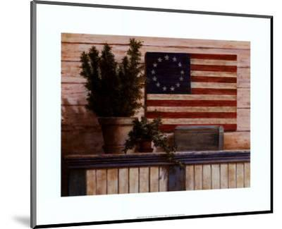 Old Flag with Ivy-T^ C^ Chiu-Mounted Art Print