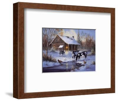 Winter Farm-M^ Caroselli-Framed Art Print