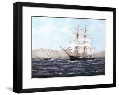 The Barque Annie Johnson-Henry Scott-Framed Art Print