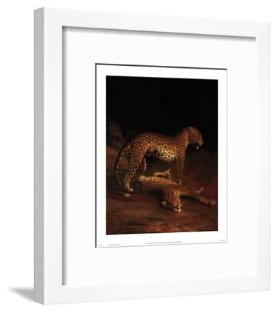 Two Leopards Playing in the Exeter Change Menagerie, c.1808-Jacques-Laurent Agasse-Framed Art Print