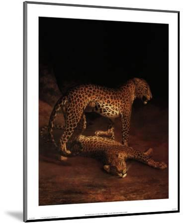 Two Leopards Playing in the Exeter Change Menagerie, c.1808-Jacques-Laurent Agasse-Mounted Art Print