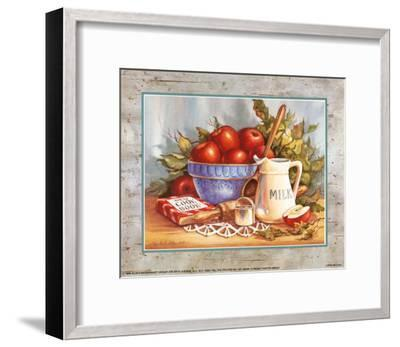 Cookbook and Apples-Peggy Thatch Sibley-Framed Art Print