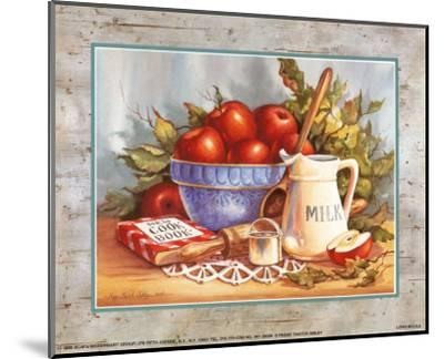 Cookbook and Apples-Peggy Thatch Sibley-Mounted Art Print