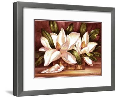 Blossoming Magnolias-Peggy Thatch Sibley-Framed Art Print