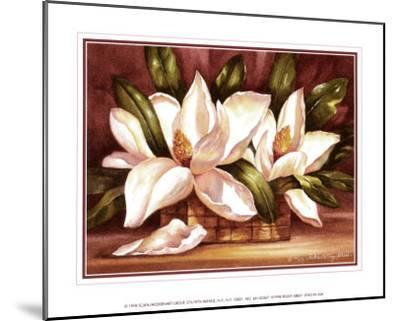 Blossoming Magnolias-Peggy Thatch Sibley-Mounted Art Print