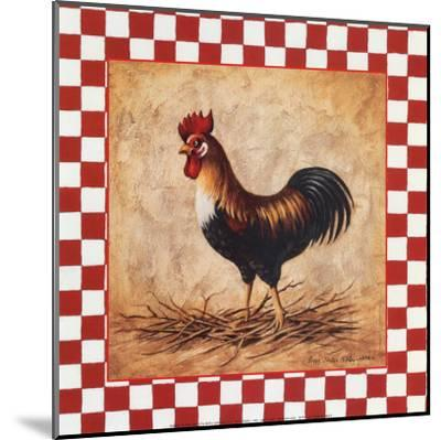 Country Rooster-Peggy Thatch Sibley-Mounted Art Print