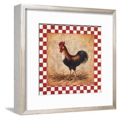 Country Rooster-Peggy Thatch Sibley-Framed Art Print