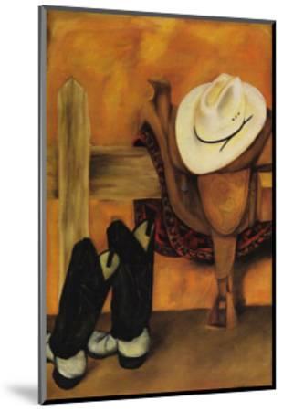 Modern Cowboy-Jennifer Goldberger-Mounted Art Print