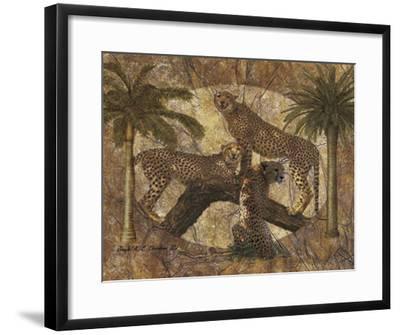 Jungle Cheetahs-Jonnie Chardonn-Framed Art Print