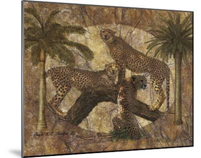 Jungle Cheetahs-Jonnie Chardonn-Mounted Art Print