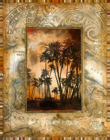 Tahitian Sunset II-John Douglas-Framed Art Print