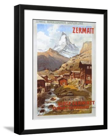 Swiss Alps, Zermatt Matterhorn-Anton Reckziegel-Framed Giclee Print