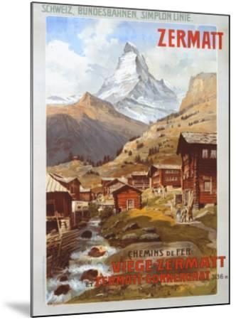 Swiss Alps, Zermatt Matterhorn-Anton Reckziegel-Mounted Giclee Print