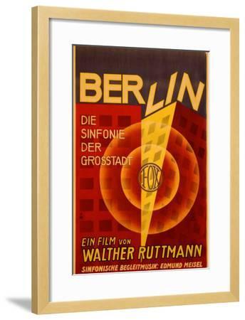 Ruttmann Berlin Symphony of a Great City--Framed Giclee Print