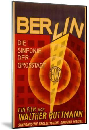 Ruttmann Berlin Symphony of a Great City--Mounted Giclee Print