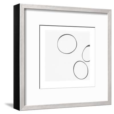 Taupe V-Denise Duplock-Framed Art Print